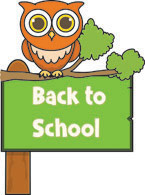 back to school sign owl clipart