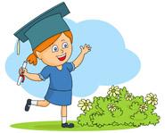 happy student at graduation clipart