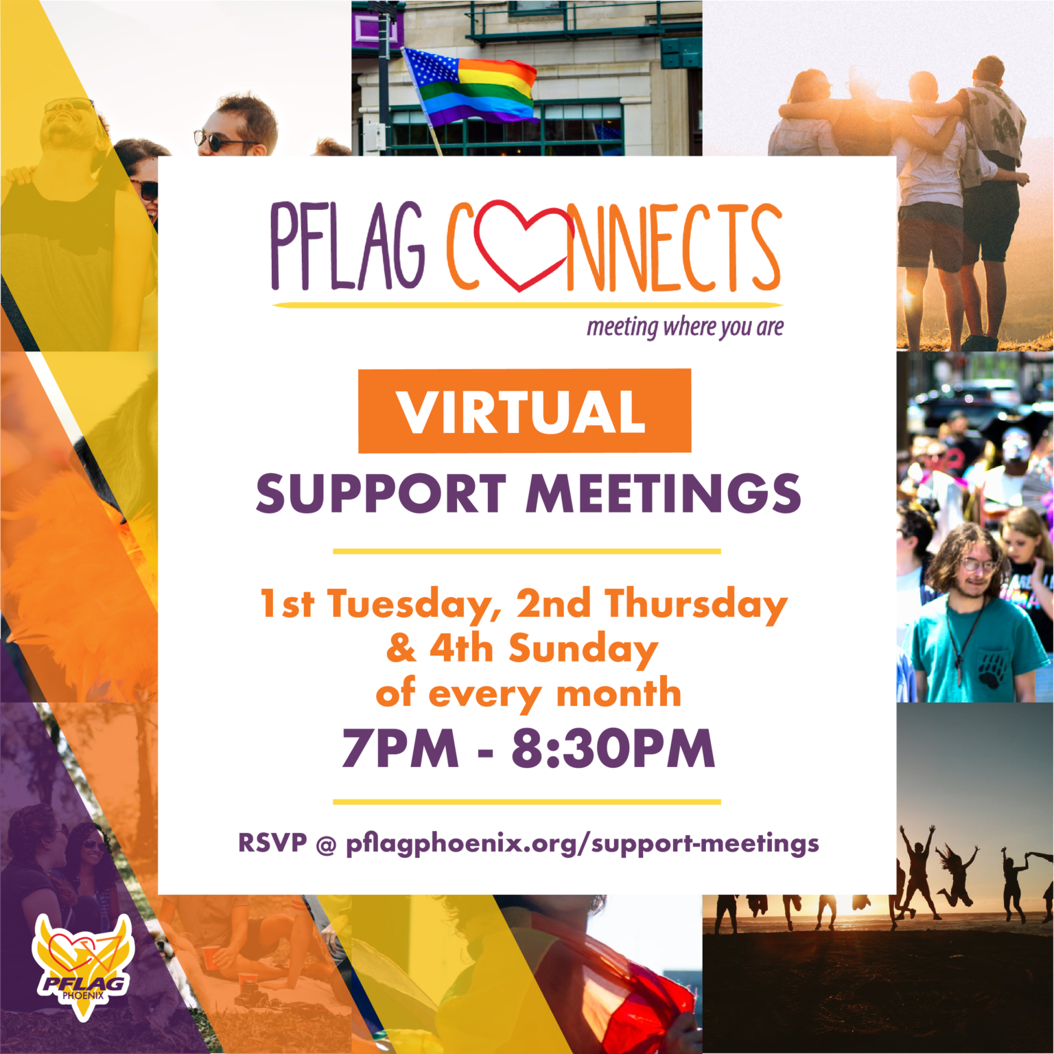 PFLAG Phoenix Support Groups flyer